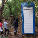 6 toilets sponsored by EMKAY